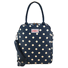 Buy Cath Kidston Button Spot Tall Busy Shoulder Bag, Navy Online at johnlewis.com