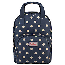 Buy Cath Kidston Button Spot Backpack, Navy Online at johnlewis.com