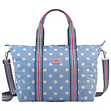 Buy Cath Kidston Button Spot Foldaway Bag, Denim Online at johnlewis.com