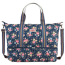 Buy Cath Kidston Latimer Rose Large Foldaway Double Decker Travel Bag, Navy Online at johnlewis.com
