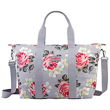 Buy Cath Kidston Richmond Rose Foldaway Overnight Bag, Grey Online at johnlewis.com