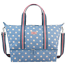 Buy Cath Kidston Button Spot Foldaway Double Decker Travel Bag, Denim Online at johnlewis.com