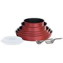 Buy Tefal Ingenio 10 Piece Set, Red Online at johnlewis.com