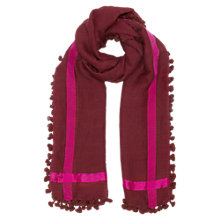 Buy East Wool Silk Pom Pom Scarf Online at johnlewis.com