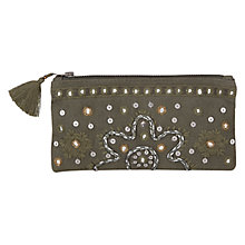Buy East Serina Mirror Purse, Khaki Online at johnlewis.com