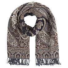 Buy East Large Wool Shawl, Indigo Online at johnlewis.com