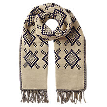 Buy East Diamond Jacquard Scarf, Blue Online at johnlewis.com