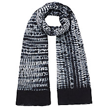 Buy East Shibori Scarf, Black Online at johnlewis.com