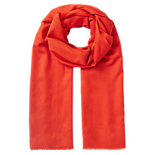 Buy East Large Wool Shawl, Orange Online at johnlewis.com