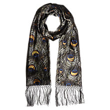 Buy East Peacock Velvet Scarf, Slate Online at johnlewis.com