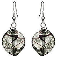 Buy Martick Twist Murano Glass Drop Earrings, Platinum Online at johnlewis.com