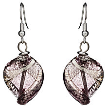 Buy Martick Twist Murano Glass Drop Earrings, Plum Online at johnlewis.com