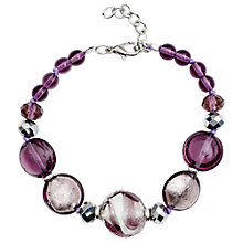 Buy Martick Candy Cane Swirl Murano Glass and Crystal Bracelet Online at johnlewis.com