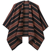 Buy Lee Striped Poncho, Burnt Henna Online at johnlewis.com