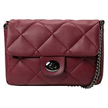 Buy Mango Quilted Crossbody Bag, Red Online at johnlewis.com