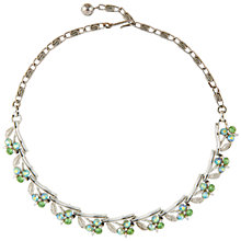 Buy Susan Caplan Vintage 1950s Lisner Silver Plated Swarovski Crystal Necklace, Silver/Green Online at johnlewis.com