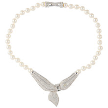 Buy Susan Caplan Vintage 1980s Swarovski Silver Plated Crystal Faux Pearl Necklace, Silver/Pearl Online at johnlewis.com