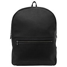 Buy Reiss Giani Leather Backpack, Black Online at johnlewis.com
