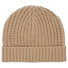 Buy Reiss Toby Ribbed Beanie Hat, One Size, Oatmeal Online at johnlewis.com