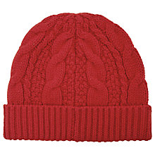 Buy Reiss Nake Cable Knit Beanie Hat, One Size Online at johnlewis.com