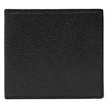 Buy Reiss Gillis Textured Foldover Wallet, Black Online at johnlewis.com