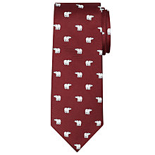 Buy John Lewis Polar Bear Christmas Tie Online at johnlewis.com