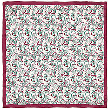 Buy John Lewis Paisley Pocket Square, Stone and Beet Online at johnlewis.com