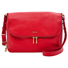 Buy Fossil Preston Flap Leather Bag Online at johnlewis.com