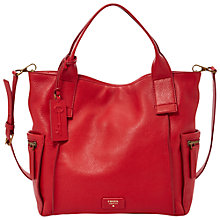 Buy Fossil Emerson Medium Leather Satchel Online at johnlewis.com