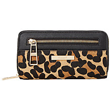 Buy Dune Kennedy Colour Block Panel Leather Purse, Leopard Online at johnlewis.com