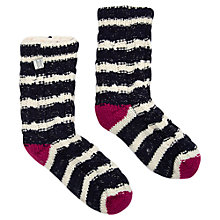 Buy Joules Toasty Cable Knit Socks, Navy Online at johnlewis.com
