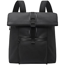 Buy Mulberry Fleet Canvas Backpack, Charcoal Online at johnlewis.com
