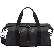 Buy Mulberry Fleet Canvas Holdall, Charcoal Online at johnlewis.com