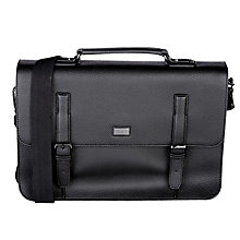 Buy Ted Baker Fredim Satchel Messenger Bag, Black Online at johnlewis.com