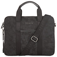 Buy Ted Baker Rello Document Bag, Black Online at johnlewis.com