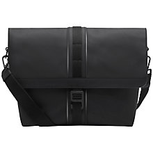 Buy Mulberry Fleet Messenger Bag, Charcoal Online at johnlewis.com