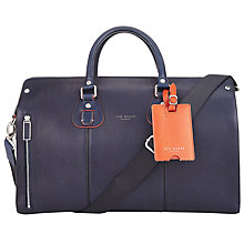 Buy Ted Baker Colbad Leather Holdall, Navy Online at johnlewis.com