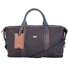 Buy Ted Baker Hodor Waxed Canvas Holdall, Navy Online at johnlewis.com