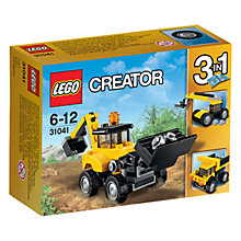 Buy LEGO Creator 31041 3-in-1 Construction Vehicles Online at johnlewis.com