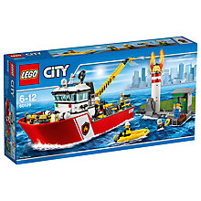 Buy LEGO City 60109 Fire Boat Online at johnlewis.com