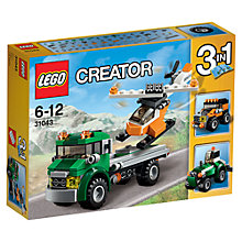 Buy LEGO Creator 31043 3-in-1 Chopper Transporter Online at johnlewis.com