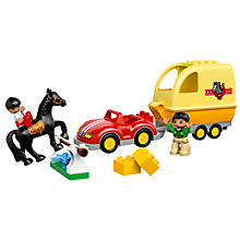 Buy LEGO DUPLO  Horse Trailer Online at johnlewis.com