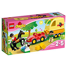 Buy LEGO DUPLO Horse Trailer Bundle with Free Duplo Snail Online at johnlewis.com