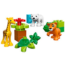 Buy LEGO DUPLO Baby Animals Online at johnlewis.com