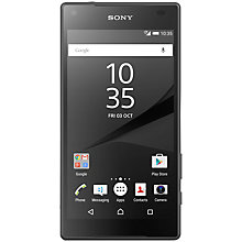 "Buy Sony Xperia Z5 Compact Smartphone, Android, 4.6"", 4G LTE, SIM Free, 32GB, Graphite Online at johnlewis.com"
