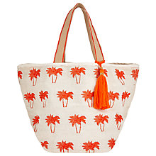 Buy Collection WEEKEND by John Lewis Raffia Tote Bag, Palm Orange Online at johnlewis.com