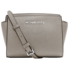 Buy MICHAEL Michael Kors Selma Saffiano Leather Mini Messenger Bag Online at johnlewis.com