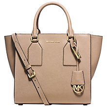 Buy MICHAEL Michael Kors Selby Medium Leather Satchel Online at johnlewis.com