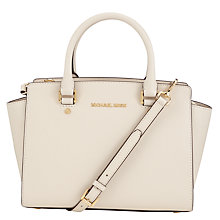 Buy MICHAEL Michael Kors Selma Medium Top Zip Leather Satchel Online at johnlewis.com
