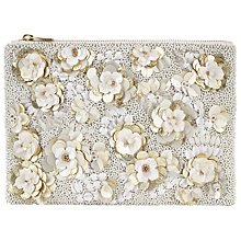 Buy Collection WEEKEND by John Lewis Elce Daisy Clutch Bag, White Online at johnlewis.com